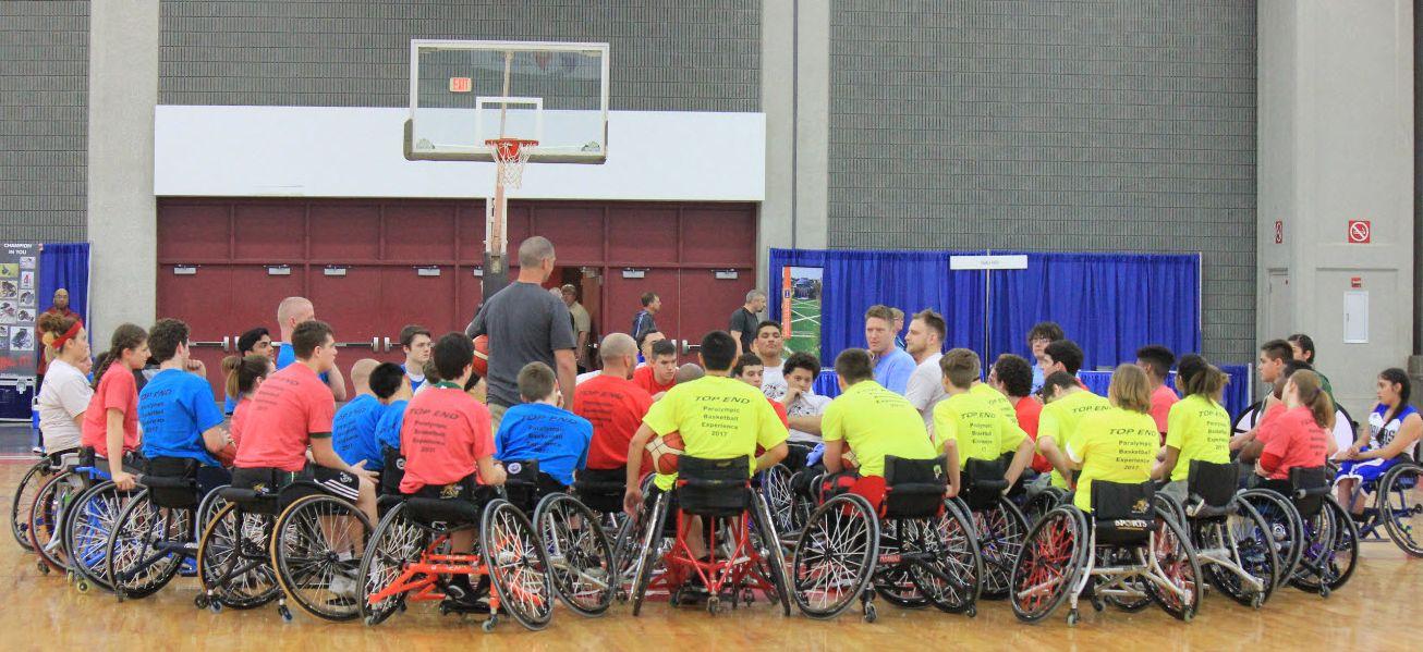 Invacare Top End Wheelchair Basketball Clinic Team 2017