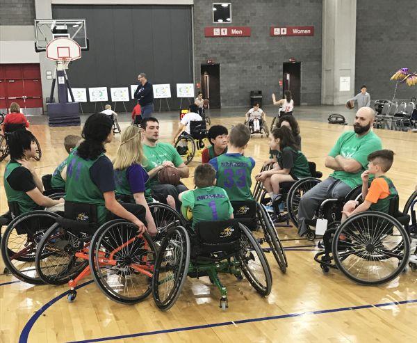 Youth wheelchair basketball team at the NWBA 2017