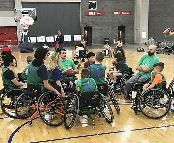 Youth wheelchair basketball team at the NWBA 2017