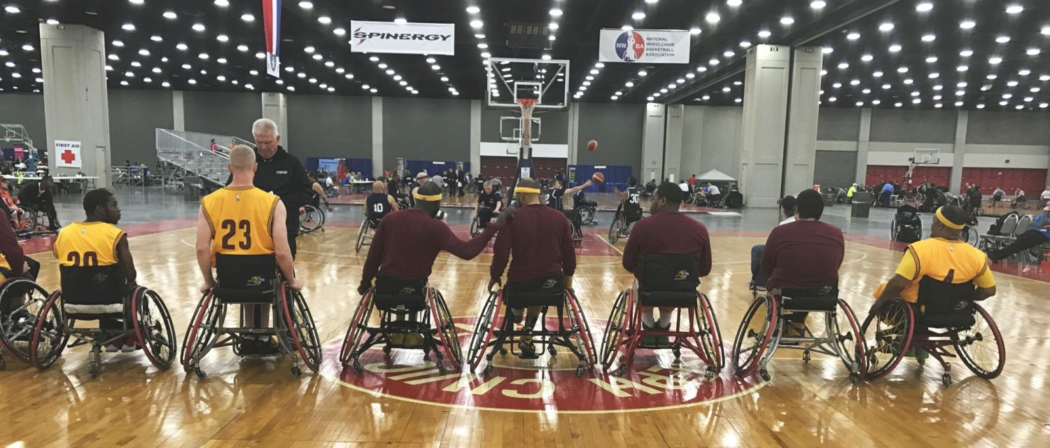 Cleveland Wheelchair Cavaliers in their Top End Basketball Wheelchairs
