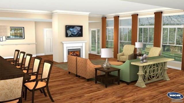 Invacare Interior Design Resident Living Room