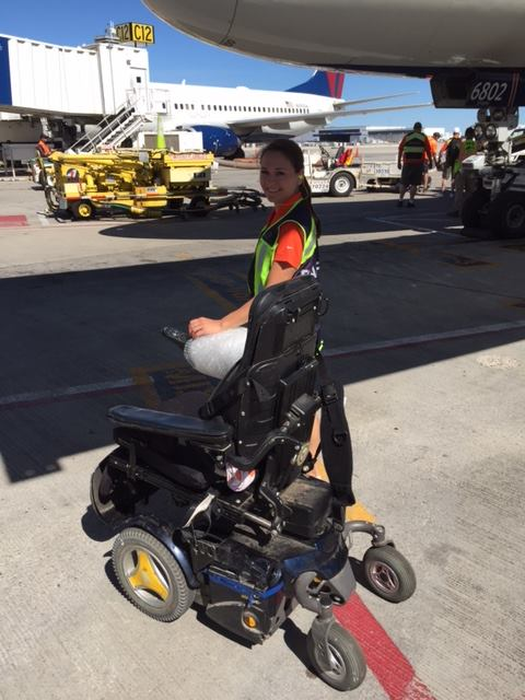 Invacare associates will be at the airport to unload and reassemble wheelchairs.