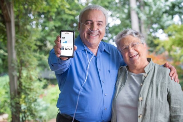 Information and support are at your fingertips in the Piccolo O₂ App with the Platinum Mobile Oxygen Concentrator.
