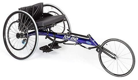 Invacare Top End Blue Preliminator Racing Wheelchair