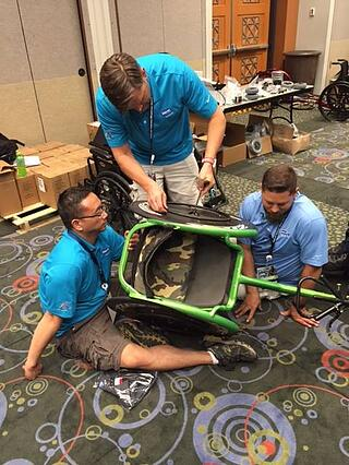 Invacare will offer wheelchair repair and tune ups throughout the week.